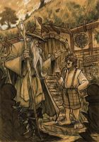 THE HOBBIT - Gandalf and Bilbo by DenisM79