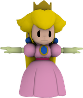 Paper Princess Peach :WIP 2: by Luigimariogmod