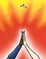 EXPLOSIVE HIGH FIVE by Firedblue
