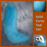 Curvy Solid Teal Tail by Lascivus-Lutra