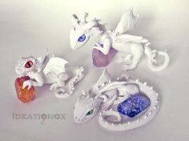Baby Dragon Sculptures (Before Paint) by Ideationox