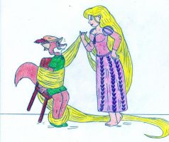 Robin and Rapunzel by Jose-Ramiro