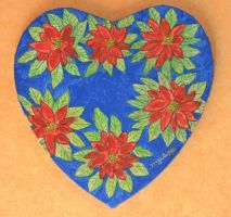 poinsettia heart for Valentine's day by ingeline-art