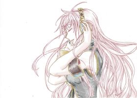 Megurine Luka -colored- by RougeEtNoir