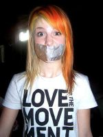 Hayley Williams tape gagged by The-email