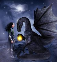 Loki and dragon by AnnGeea