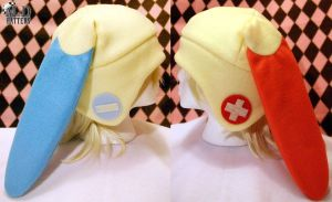 Plusle and Minun Fleece Hats by MDHatters