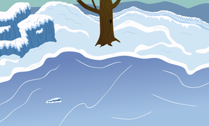 Frozen Pond Background by sakatagintoki117
