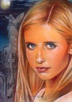 Buffy Sketch Card by Ethrendil