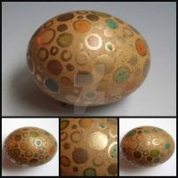 Natural brown polka dot egg by MandarinMoon