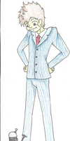 Tenth Doctor, Colored, Full-body. by 1000wordpictures
