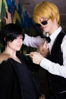 Cornered - Shizuo and Izaya (Durarara!!) by Albitxito