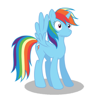 Rainbow Dash became an alicorn yayyyy by Gochure