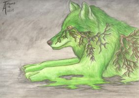 Grey and Green by Inkwerk