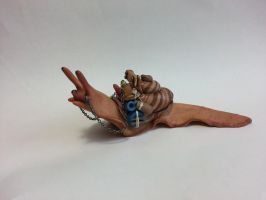 Large Polymer Clay Mystic Snail - Sold! by Orang3Marmalade
