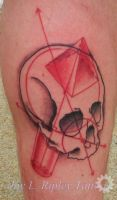 Geometry and Skull Tattoo by Sirius-Tattoo