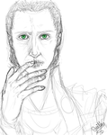 Loki's silence progress 1 - sketch by MisSmithy