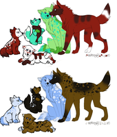 wolf adoptables- by poisonflame