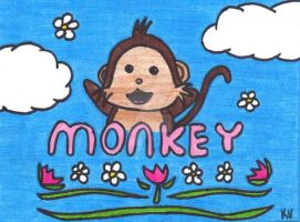 Monkey by SavageFrog