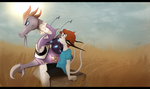 Lost in the middle of nowhere by Kina-Axian