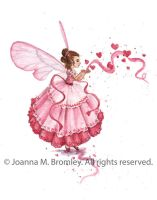 Blowing Pink Hearts by JoannaBromley