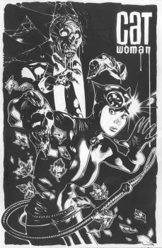 Catwomn 83 Lineart by AdamHughes