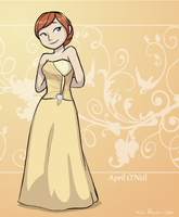 April O'Neil being fancy by Suzukiwee1357
