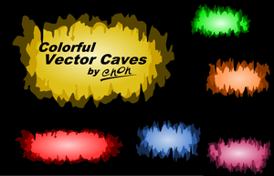 Colorful Vector Caves by enon013