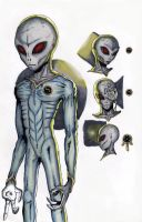 Grey Aliens Concept Art by Lighttwister