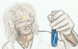 Brian May as a scientist by gagambo