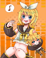 Vocaloid: Rin Kagamine [speedpaint] by erichankun