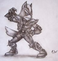 Wolf O'Donnell Pencil Drawing by Spectrum-VII