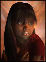 Portrait of a Little Girl by Zethara