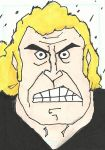 Venture Bros. Brock Samson Sketch Card by Graymalkin2112