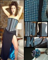 Dragonslayer Chainmail Corset by WaistedSpace