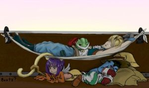 FF9 - Nap on the Blue Narciss by MiyaYoshi