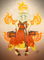 Alternative Cinnamon - Arcanine kimono by devilarcana
