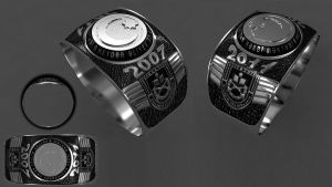 3d rings for azerbaijan army by drking77