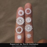 intricate miniature papercut by ParthKothekar