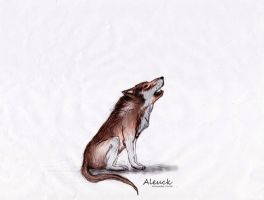 Colorized wolf by Aleuck