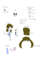 Yumi Ref Sheet by BlossomTehKat
