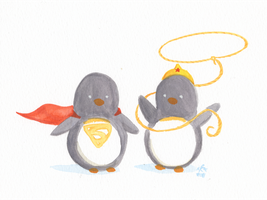 Super Wonder Penguin by FairyKitsch