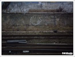 old political graffiti - Shell by Swoboda