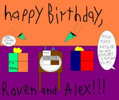 Raven and Alex's Birthday Pic by IttyBitty1996