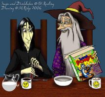 Breakfast... - brewing-trouble by snapefanclub