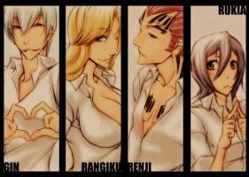 Bleach - white shirts by pandabaka
