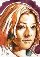 Buffy Sketch Card Willow by LeeLightfoot