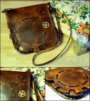 Large Steampunk Leather Messenger Bag III by izasartshop