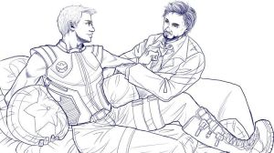 Tony / Clint by kingbirdkathy