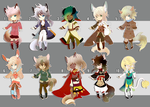 CHIBI ADOPTABLE SALE - 0/10 [CLOSED] + ART UPDATES by kura-ou